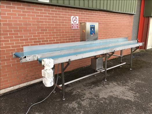 Stainless twin lane conveyor