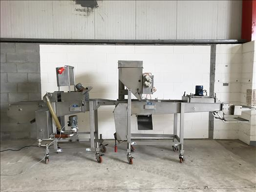 Fully automatic coating line for batter and breadcrumbs